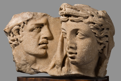 Fragment of a sarcophagus with the myth of Kore-Proserpina