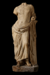 Statue - Female figure leaning on a column